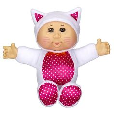 """Cabbage Patch Kids Cuties Doll - White Kitty - Jakks Pacific - Toys""""R""""Us Ty Toys, Toys R Us, Cabbage Patch Babies, Journey Girls, Animal Costumes, White Kittens, Kids Store, Ag Dolls, 8th Birthday"""