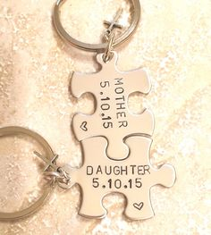 Mother Daughter Gifts Keychain Christmas Personalized Keychains Natashaaloha