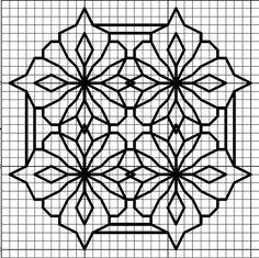 Blackwork Cross Stitch, Blackwork Embroidery, Cross Stitch Charts, Cross Stitching, Cross Stitch Embroidery, Embroidery Patterns, Cross Stitch Patterns, Graph Paper Drawings, Graph Paper Art