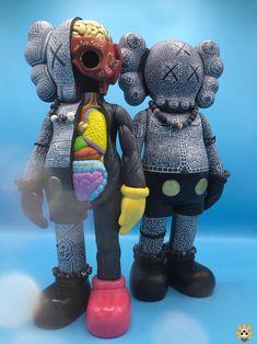Custom (Bootleg) KAWS Companions by ink_visuals for Vinyl Toys, Vinyl Art, Kaws Figurine, Kanye West Wallpaper, Iphone Homescreen Wallpaper, Model Sketch, Supreme Wallpaper, Hypebeast Wallpaper, Pastel Wallpaper