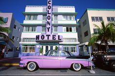 Colony Hotel in Art Deco District, Miami