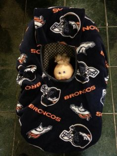 Double Fleece Denver Broncos Print Baby Carrier Cozy Cover Up for Infant Car Seats on Etsy, $30.00