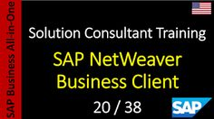 SAP - Course Free Online: 20-38 - SAP NetWeaver Business Client