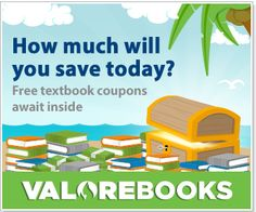 ValoreBooks is helping you save big on textbooks. Unlock your share of over $ 25,000 in textbook discounts and prizes now!