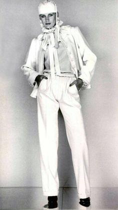1977 - Yves Saint Laurent ensemble in L'Officiel magazine 1977