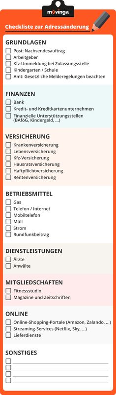 Your checklist for changing your address when moving – argon-toptrendspi… – Finanzen Change Your Address, Check Up, First Flat, Home Organisation, Moving Tips, Moving Checklist, Moving House, Housekeeping, Good To Know