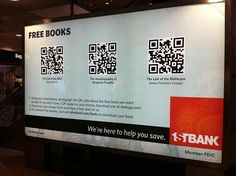 Here's a smart sponsorship of QR codes that link to books for people to read during their commute.