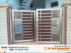 Grill Gate Design, House Main Gates Design, Steel Gate Design, Front Gate Design, Door Gate Design, Main Door Design, Gate Designs Modern, Modern Fence Design, Modern Houses