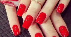 Veja vários modelos de unhas pintadas e decoradas de vermelho, que é a cor do amor e sedução. Unhas decoradas, adesivos de unhas e simples, em vários tons.