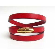 Wrap-around Bracelet - Sweet Pill/Cherry Red Leather Gifts, Cherry Red, Wrap Around, Christmas Gifts, Belt, Jewellery, Spring, Bracelets, Inspiration