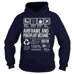 Awesome Tee For Airframe And Powerplant Mechanic T-Shirts, Hoodies (36.99$ ==►► Shopping Here!)