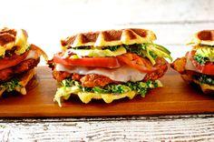 Fried Chicken Liege Waffle Sandwich