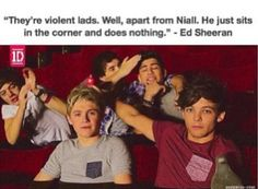 Ed Sheeran talking about one direction
