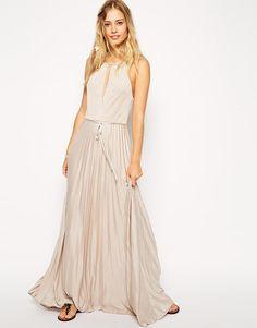 ASOS | ASOS High Neck Pleated Maxi Dress at ASOS