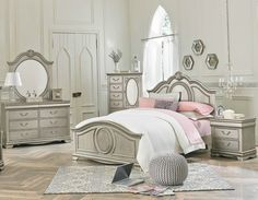 Jessica Silver Full Bedroom Set Girl's Furniture In Houston
