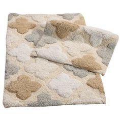 Chesapeake Merchandising Inc. Alloy Moroccan Tiles 2 Piece Bath Rug Set Green - Chesapeake Merchandising Inc® Bathroom Rugs, Bath Rugs, Small Bathroom, Large Rugs, Small Rugs, Eccentric Style, Moroccan Tiles, Bath Mat Sets, Cushion Fabric