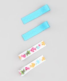 Take a look at this Turquoise Underwater Clip Set by Pink Poseys Bowtique on #zulily today!