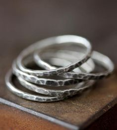 Sterling Silver Band Trio by Alexis Russell on Scoutmob Shoppe