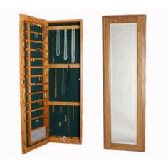 Lovely Large Wall Mounted Jewelry Cabinet   No Lock Without Lock Is A Full Length  Hardwood Jewelry Cabinet With Ample Storage Inside Of Door And Cabinet.