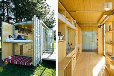 See through bathroom, Port-A-Bach: A Globetrotting Shipping Container Micro Home on ...
