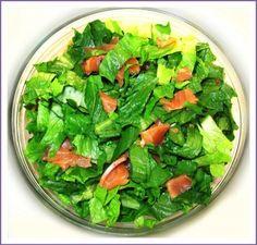 Caesar Salad With Lox And Red Caviar Recipe