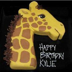 Giraffe - That's My Cake Giraffe Birthday Cakes, Giraffe Cupcakes, Giraffe Birthday Parties, Giraffe Party, 1st Birthday Cakes, Birthday Ideas, Fancy Cakes, Cute Cakes, Girraffe Cake