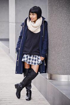 #fashionindahat #fashion #fashionblogger #zara #coat #tartan #highboots #boots #streetstyle #scarf #winterlook #moda