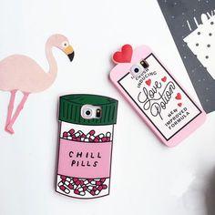Buchstabe Pink Medizinvials Muster Handyhülle für Ipone6/6s/6plus und Samsung…