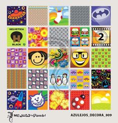 Azulejos Adesivos Decora nº 009 www.mejoganaparede.com.br
