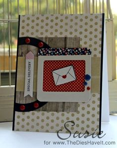 Simon Says Stamp July 2014 card kit. The Dies Have It: Special Delivery - PaperTrey Ink Blog Hop