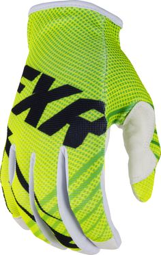 FXR Racing - 2015 MX Apparel - Factory Ride Edition Slip-On Glove - HiVis