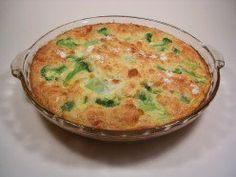 Rich, golden, impossible quiche right out of the oven.