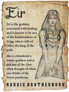 Eir ♡ the Norse Goddess of Healing and Handmaiden to Frigg/Freya Norse Goddess, Norse Pagan, Old Norse, Wiccan, Rune Viking, Viking Art, Viking Life, World Mythology, Celtic Mythology