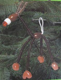 """Reindeer Ornament Kit Makes Five 3.75"""" Bead Ornaments  #TonerPlastics"""