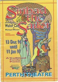 Poster of Sinbad the Sailor in Perth Theatre's Pantomime  13th December 2012 -  11th January 1997