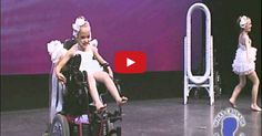 Gracie has cerebral palsy and cystic fibrosis, but her stunning smile reveals the glow of life within her little body. The song and choreography reflects a sadness and beauty that will move you to tears.. ;-)