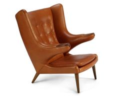 PAPA BEAR CHAIR – In Luxe Saddle Leather | Designed by Hans Wegner in 1951 and reproduced to his exacting specifications today.
