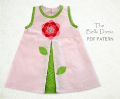 Girls sewing pattern Dress sewing pattern by MyChildhoodTreasures, $7.50