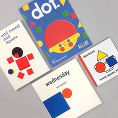 All about Shapes! Wonderful books of visual play with shapes! Shall we open these books? Typography Design, Logo Design, Booklet Design, School Art Projects, Book Layout, Business Icon, Kids Prints, Graphic Design Inspiration, Editorial Design