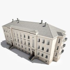 Realistic Classic House Model available on Turbo Squid, the world's leading provider of digital models for visualization, films, television, and games. Architecture Old, Classical Architecture, House 3d Model, Old Building, Classic House, Character Design, Real Estate, Inspiration, Drawings