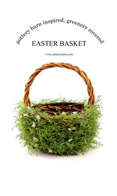 DIY Greenery Easter Basket from #MichaelsMakers Delia Creates