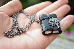Book necklace... I want one!