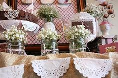 Shabby Chic First Communion {Birthday Party Inspiration} - Kara's Party Ideas - The Place for All Things Party Communion Centerpieces, Communion Decorations, Bridal Shower Decorations, Flower Centerpieces, Balloon Decorations, First Communion Party, Communion Gifts, Baptism Party, First Holy Communion