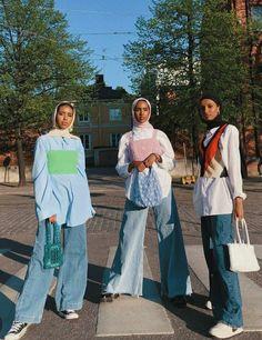 Hijab Fashion Summer, Modest Fashion Hijab, Modern Hijab Fashion, Street Hijab Fashion, Casual Hijab Outfit, Hijab Fashion Inspiration, Cute Casual Outfits, Muslim Fashion, Pretty Outfits