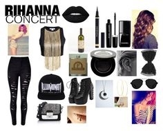 """""""Rihanna concert!"""" by creative-with-fashion ❤ liked on Polyvore featuring Marc Jacobs, Yves Saint Laurent, Lime Crime, Shany, Etchey, Karl Lagerfeld, Lana and 3.1 Phillip Lim"""