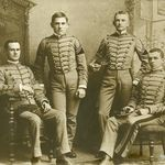 Four cadets in uniform (ca.1870-1900).