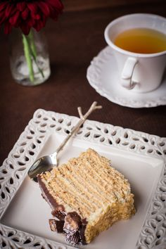 Honey Layered Cake in under 1 hour! No Baking Required! recipe by Let the Baking Begin Blog. com #Russian_desserts #Russian_recipes #Russian_food