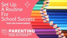 Parenting Teens, Parenting Hacks, Back To School Supplies, Good Grades, In High School, Life Skills, Teaching Kids, Routine, Study
