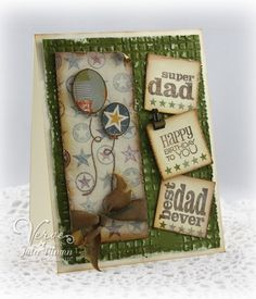 Masculine birthday card by Julee Tilman using Verve Stamps.