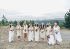 Flower crowns, dream-catchers, and campfire sing-alongs, we love everything about Jayme and Jeremy's cool bohemian wedding by Laurie Wilson of From SF with Love. Camp Wedding, Wedding Bells, Boho Wedding, Wedding Colors, Wedding Styles, Wedding Ideas, White Bridesmaid Dresses, Wedding Dresses, Bridesmaids And Groomsmen